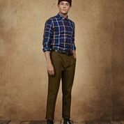 Scotch & Soda Regular Fit Shirt with Multicoloured Check 0219 Combo C