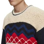 Scotch & Soda Mixed Teddy and Rib Knit Pullover