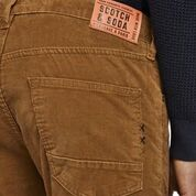 Load image into Gallery viewer, Scotch & Soda Ralston 5 Pocket Corduroy Pant in Nutmeg Rear Label