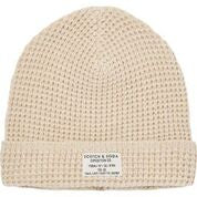 Scotch & Soda Classic Beanie in Structured Knit in Kit Melange