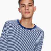 Ams Blauw Crew Neck Knit in Cotton Cashmere