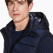 Ams Blauw Simple Body Warmer with Hood