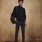 Load image into Gallery viewer, Scotch & Soda Structured Crewneck Pullover in Recycled Yarns in Night Melange