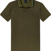 Scotch & Soda Clean Pique Polo with Contrast Tippings in Deep Green