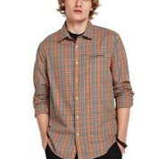 Scotch & Soda Relaxed Fit Classic Shirt with Chest Pocket Orange 0221