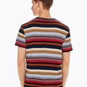Load image into Gallery viewer, Crewneck Tee with Seasonal Jacquard Pattern