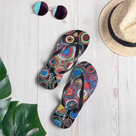 """Heart"" Original Art Print Flip-Flops"