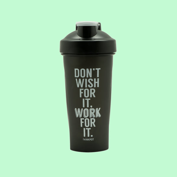 Dont wish gym protein shaker bottle