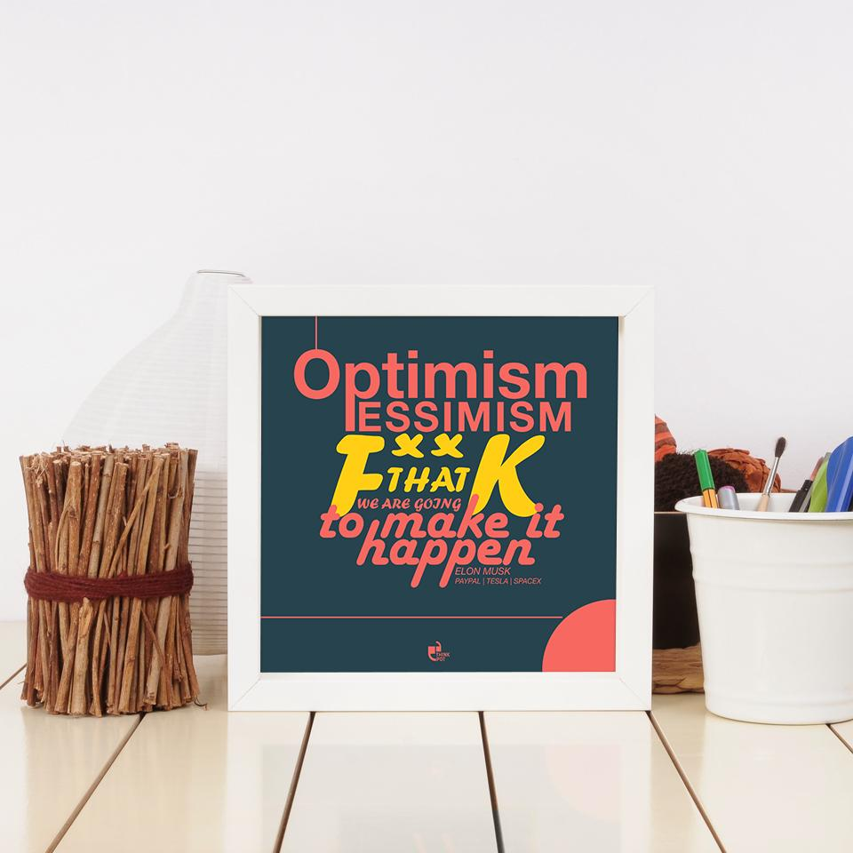 optimism pessimism frame