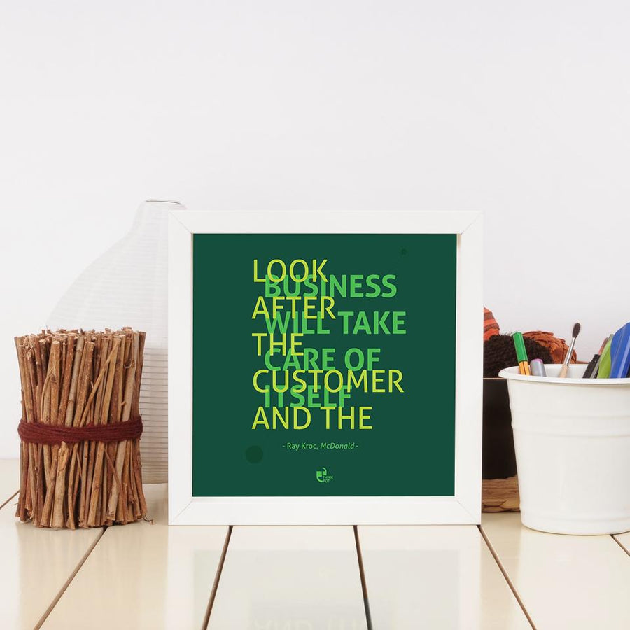 look after the customer frame