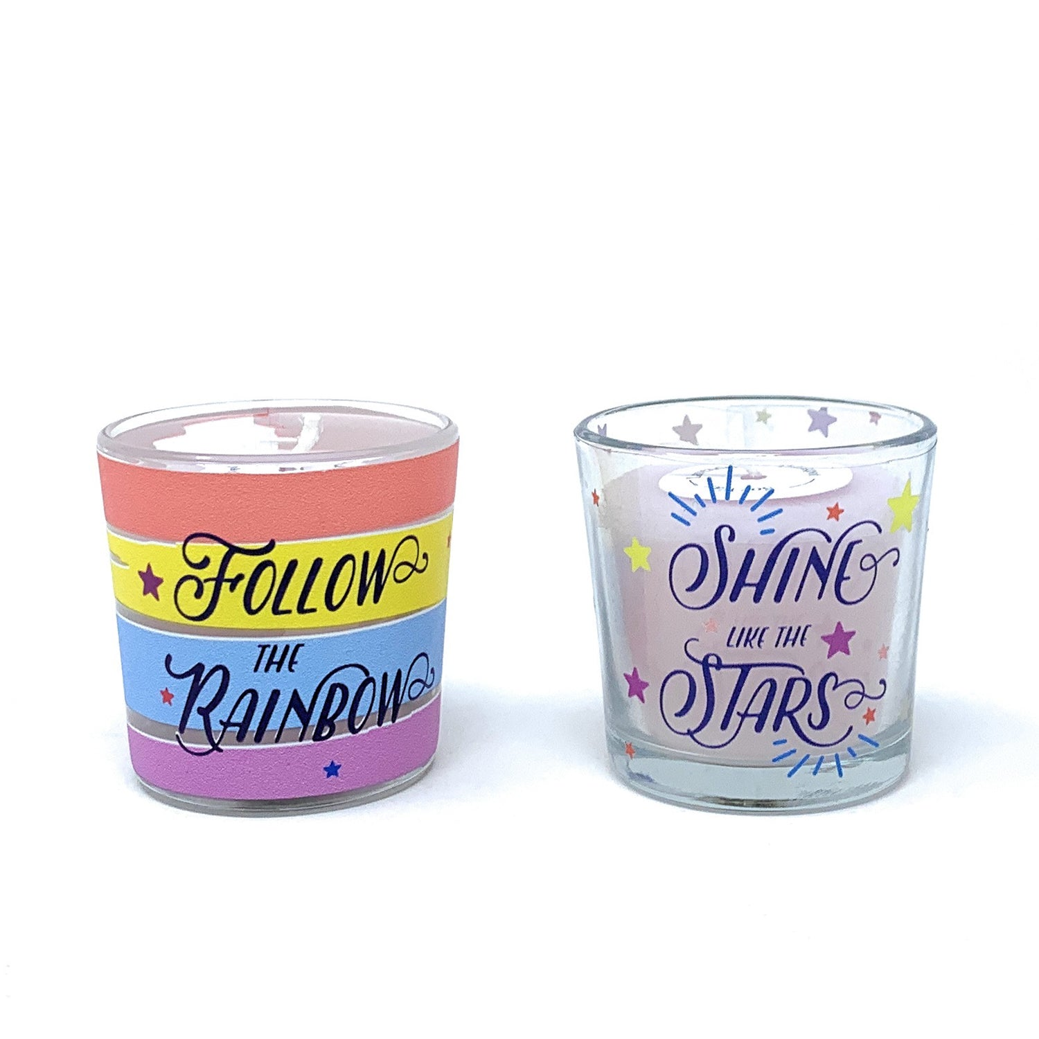 Lavender Soy Wax Votive Glass Candles (Set of 2)