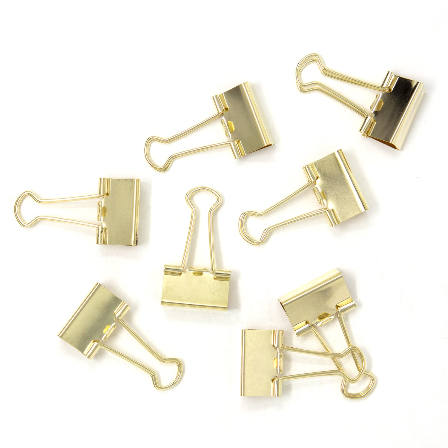 Gold Binder Clips - (Set of 8)