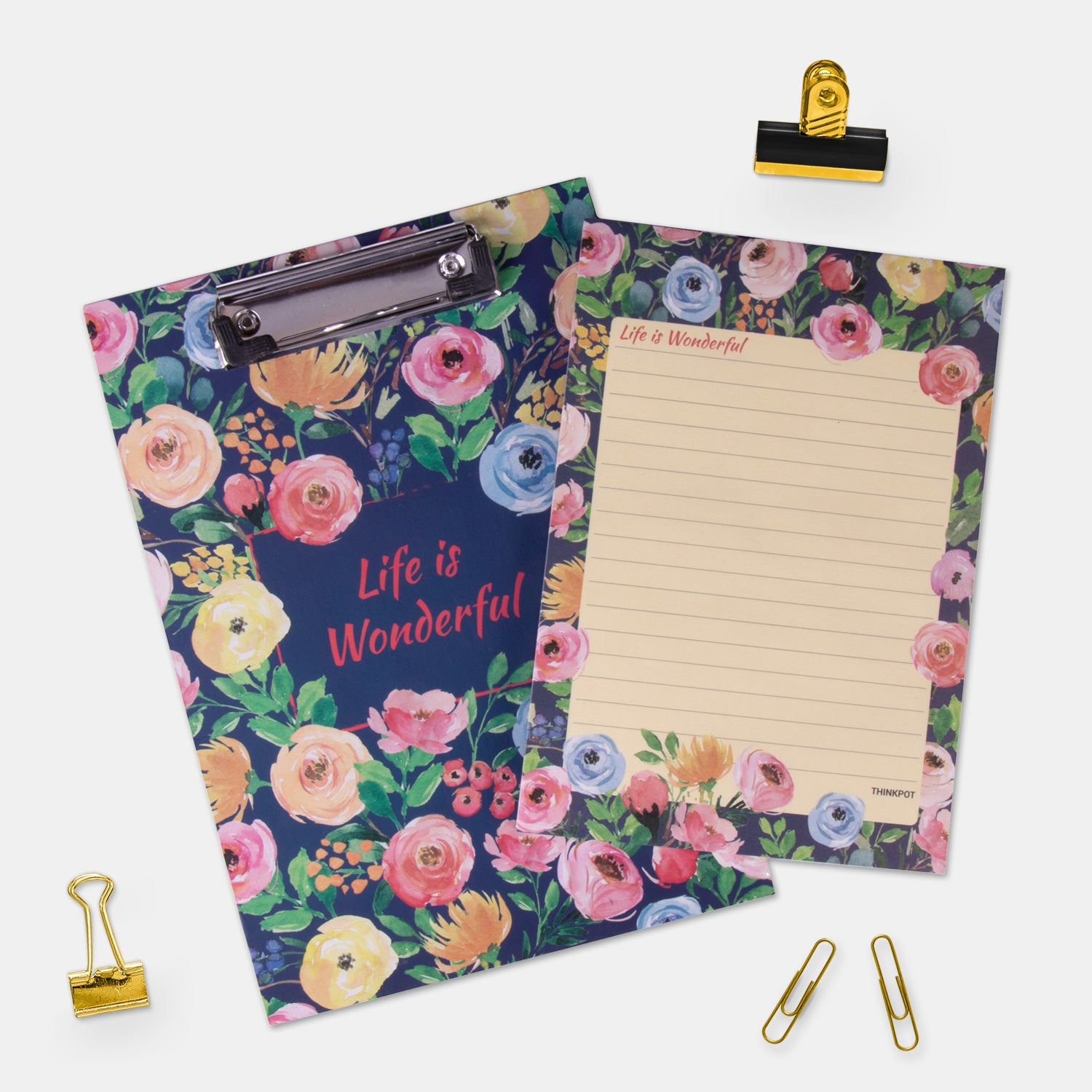 Life is wonderful Small Desk Pad Combo