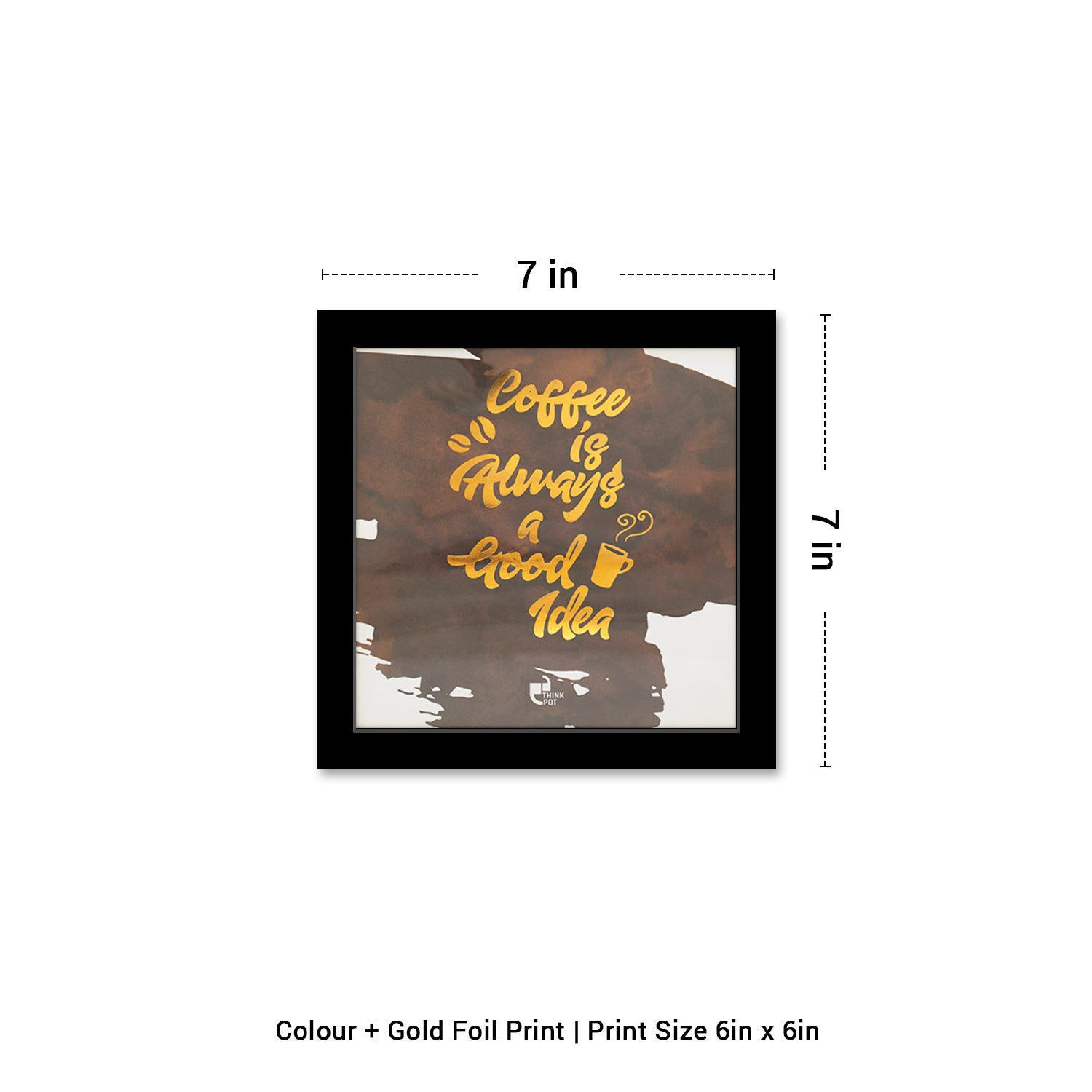 Coffee Gold Series Black 6X6 Frame