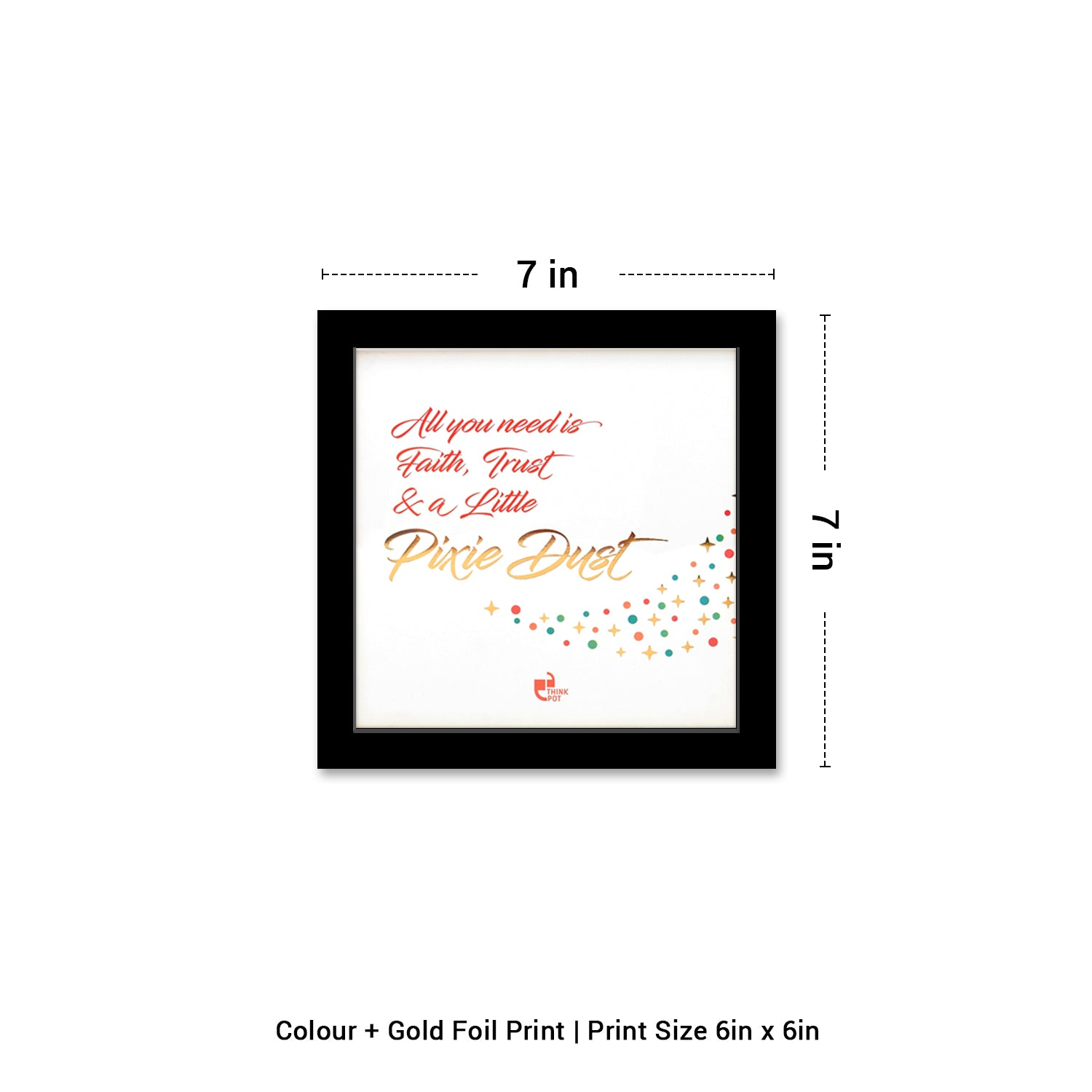 Pixie Dust Gold Series Black 6X6 Frame