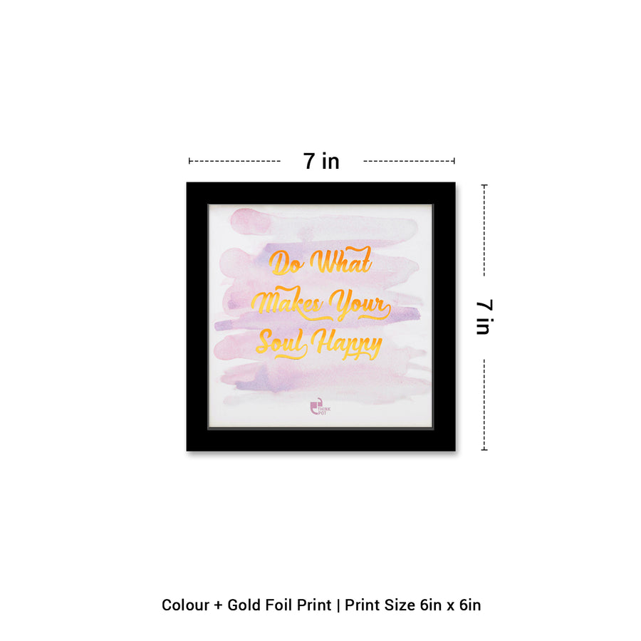 Soul Happy Gold Series Black 6X6 Frame