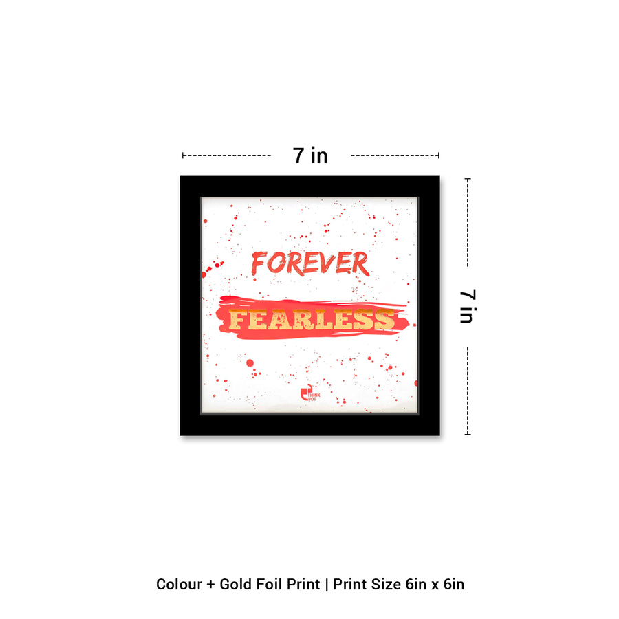 Forever Fearless Gold Series Black 6X6 Frame