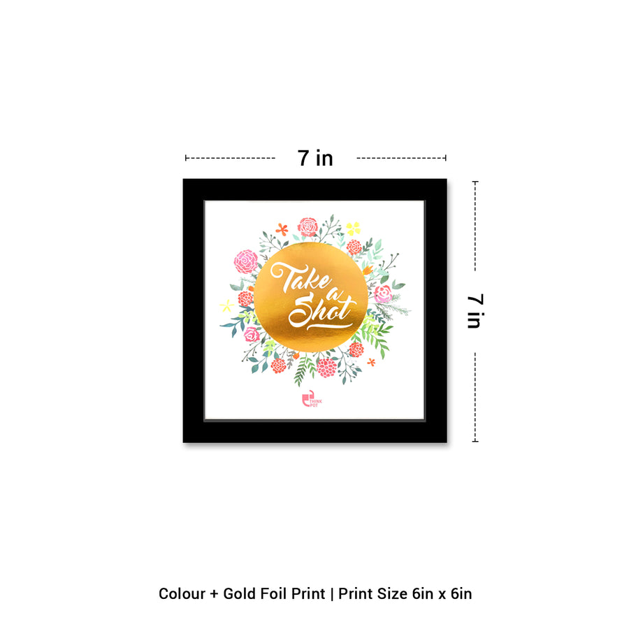 Take A Shot Gold Series Black 6X6 Frame