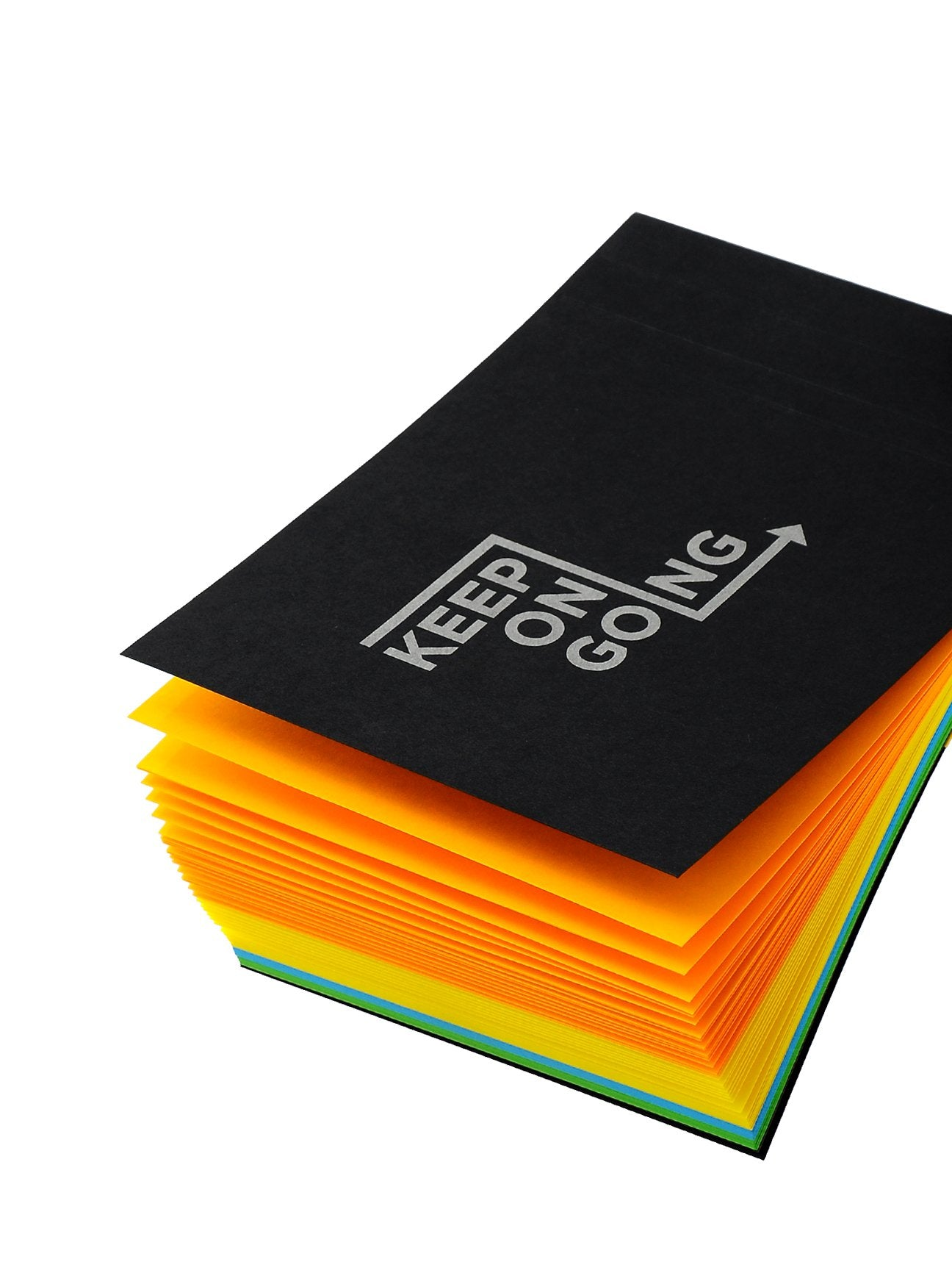 Keep On Going Multicolor Notepad