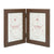Hills Brown Double Photo Frame 7X5