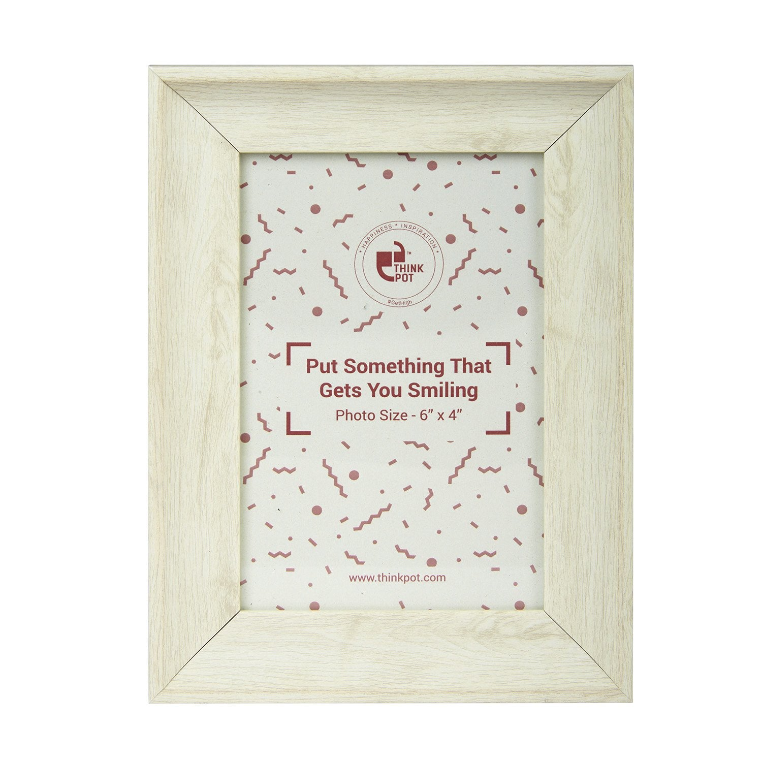White Wood Photo Frame 6X4