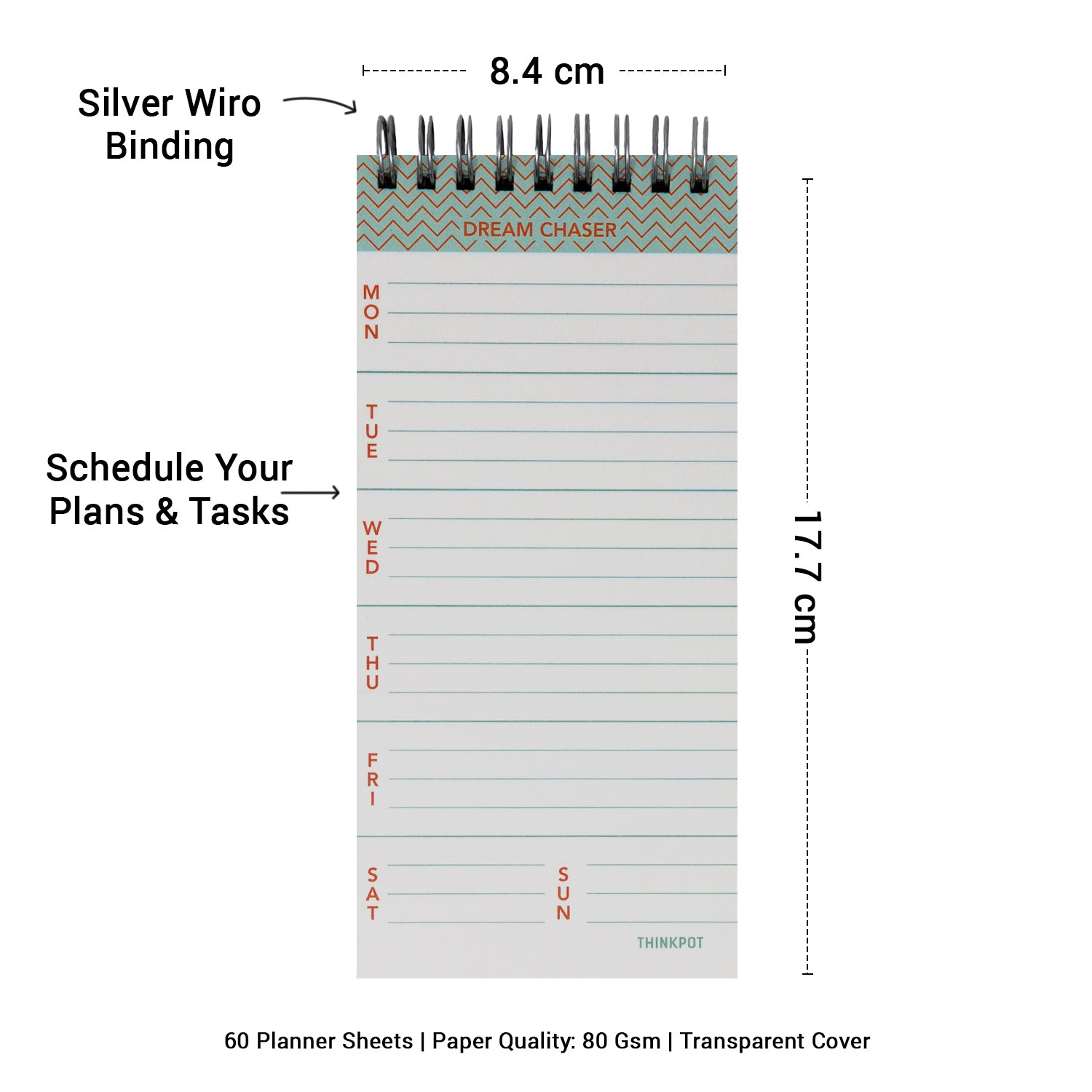 Dream Chaser Weekly Planner Notepad