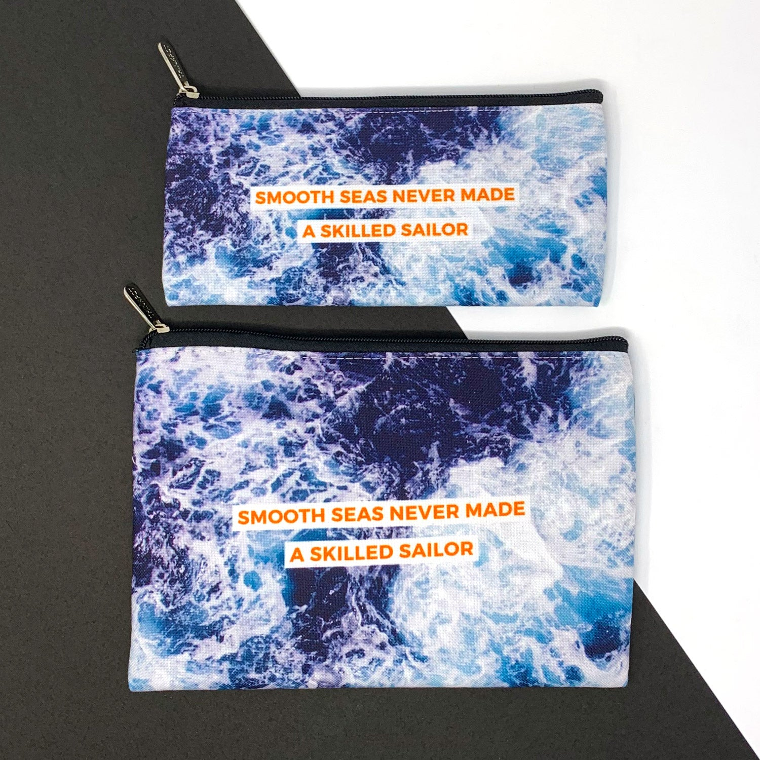Smooth Seas Canvas Pouch Combo ( Set of 2)