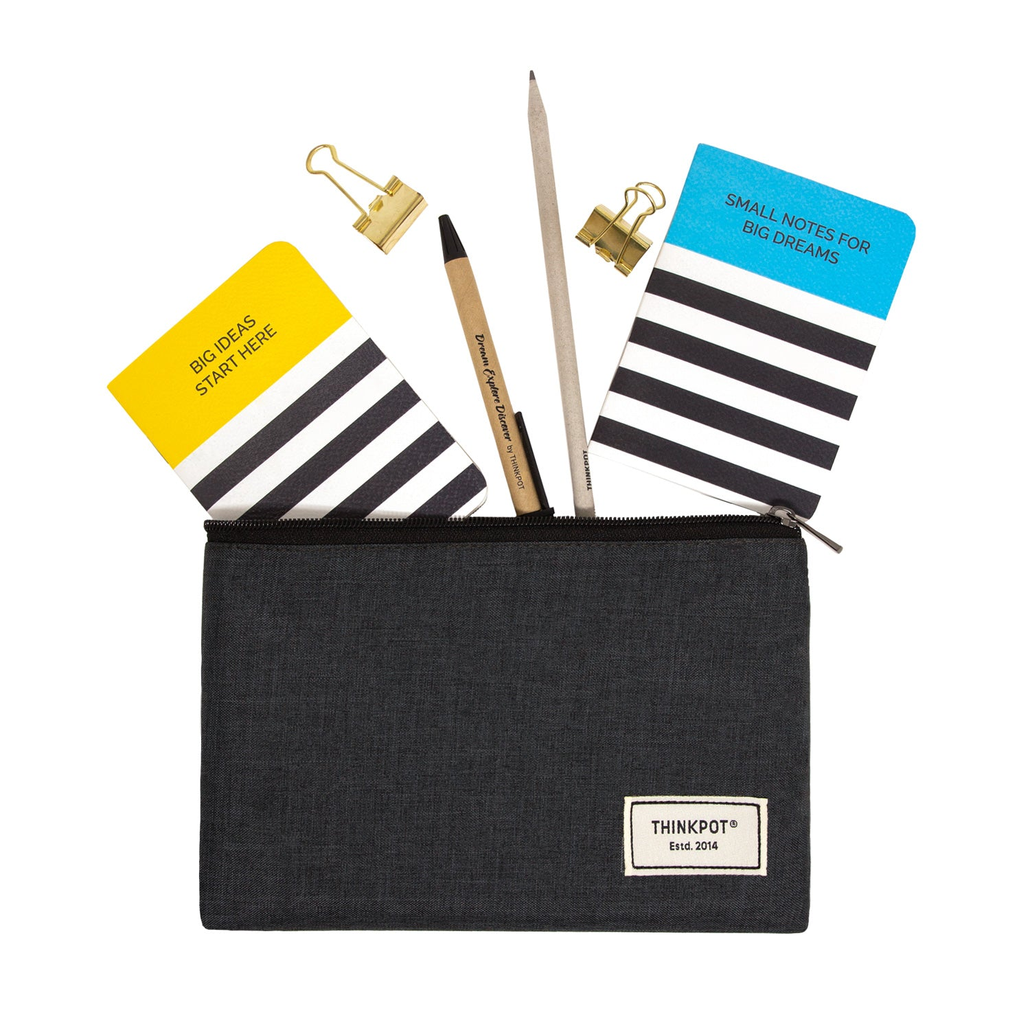 Black Signature Large Pouch