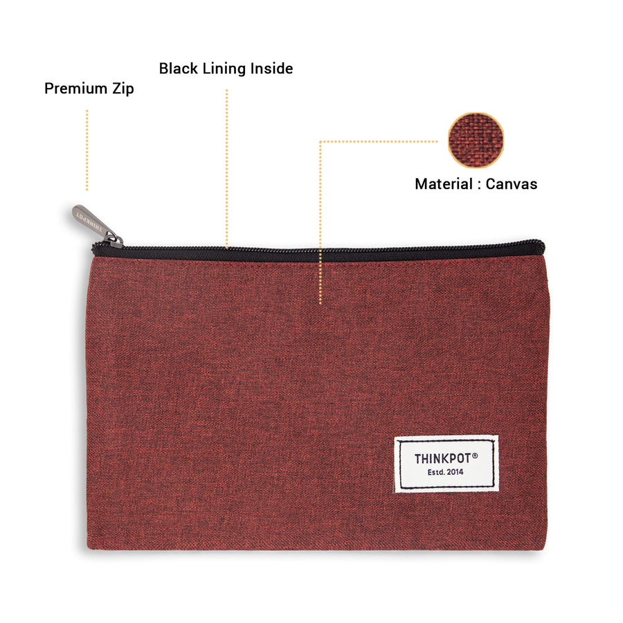 Red Signature Large Pouch