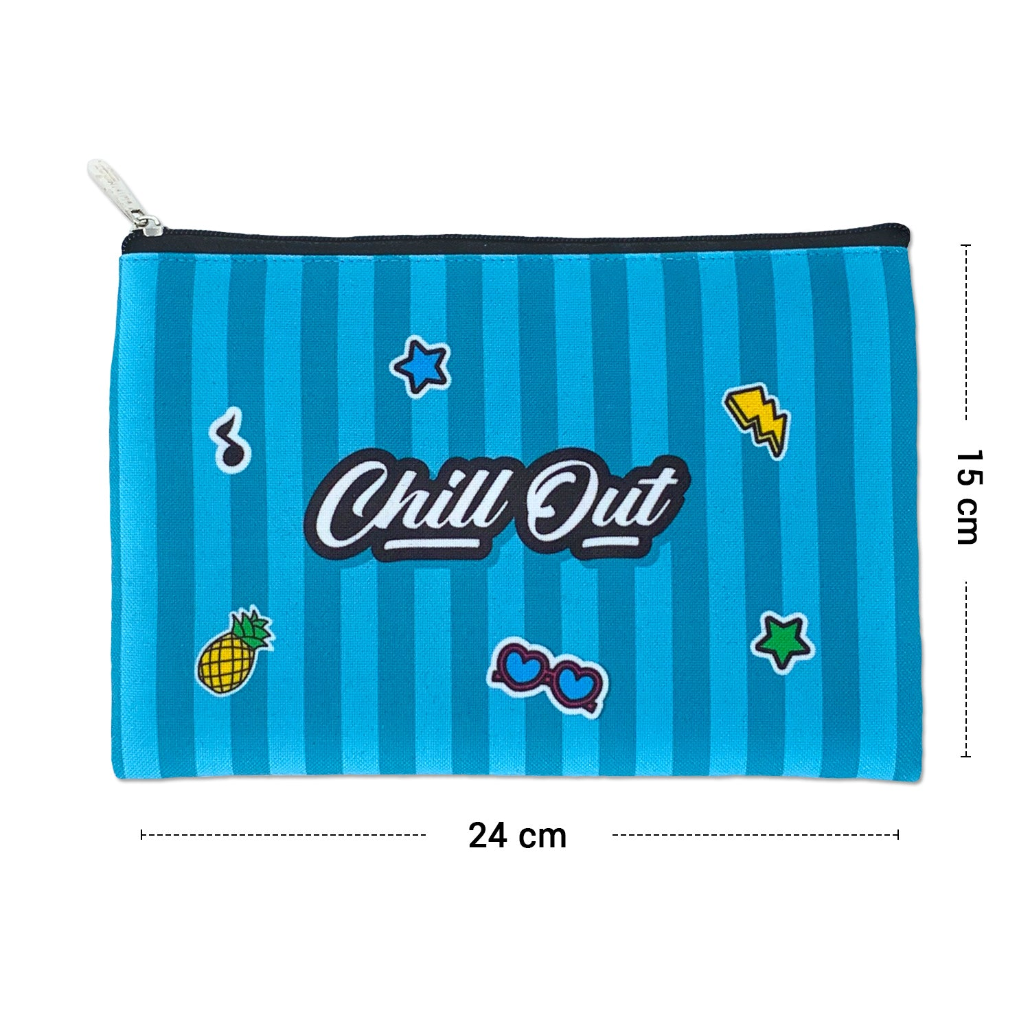 Chill Out Canvas Large Pouch