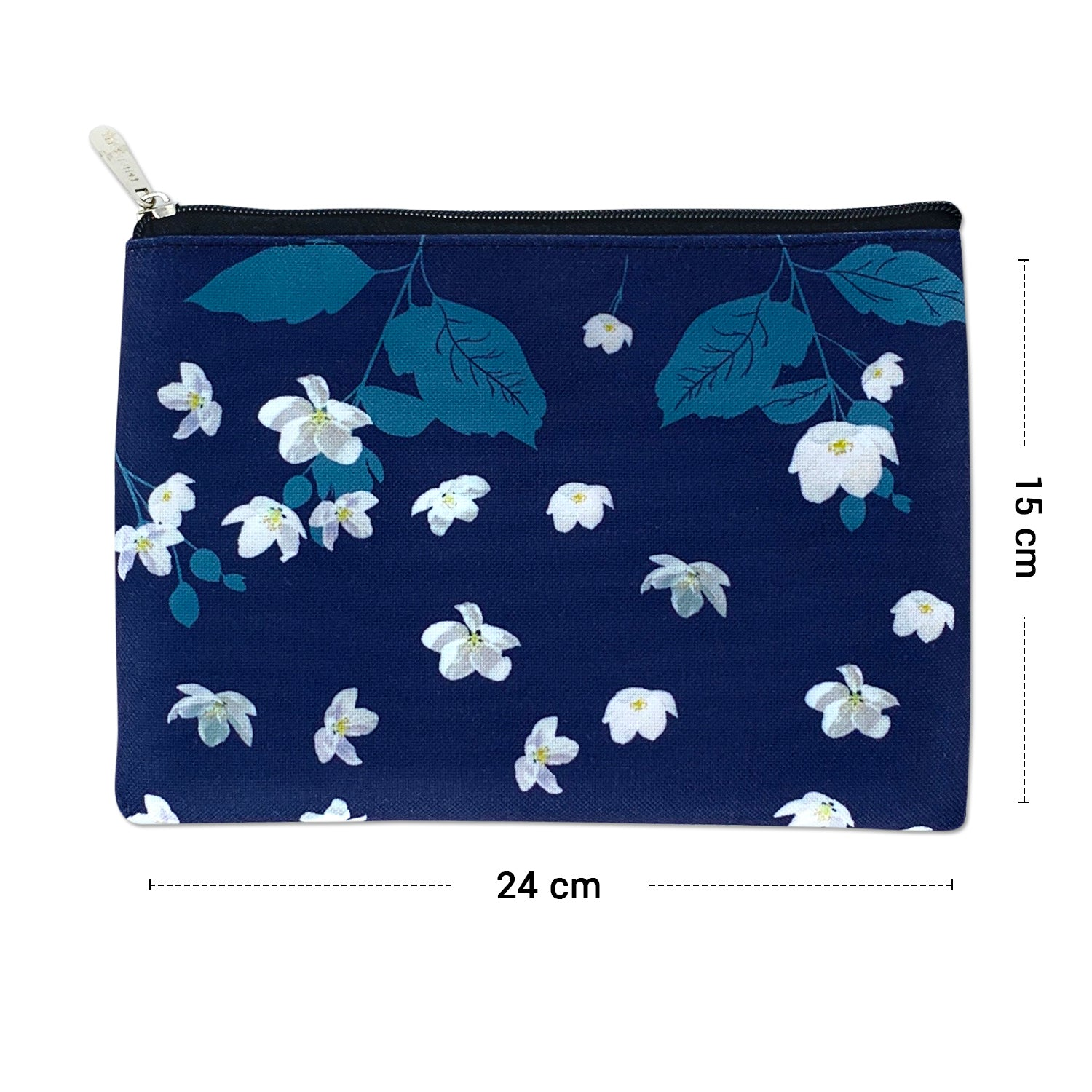 Midnight Jasmine Canvas Large Pouch