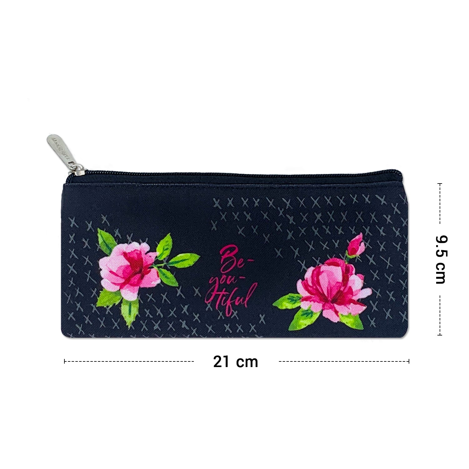 Beyoutiful Black Canvas Pencil Pouch