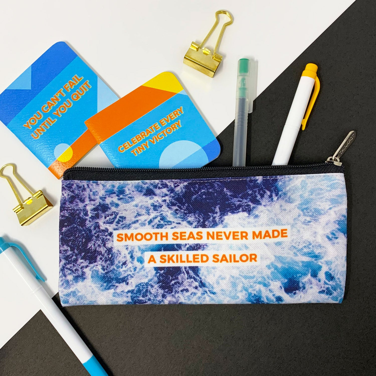 Smooth Seas Canvas Pencil Pouch