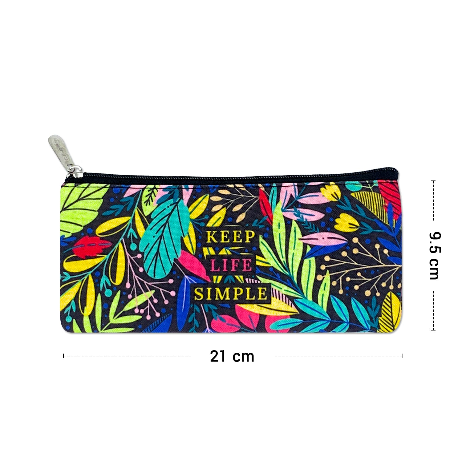 Keep Life Simple Canvas Pencil Pouch