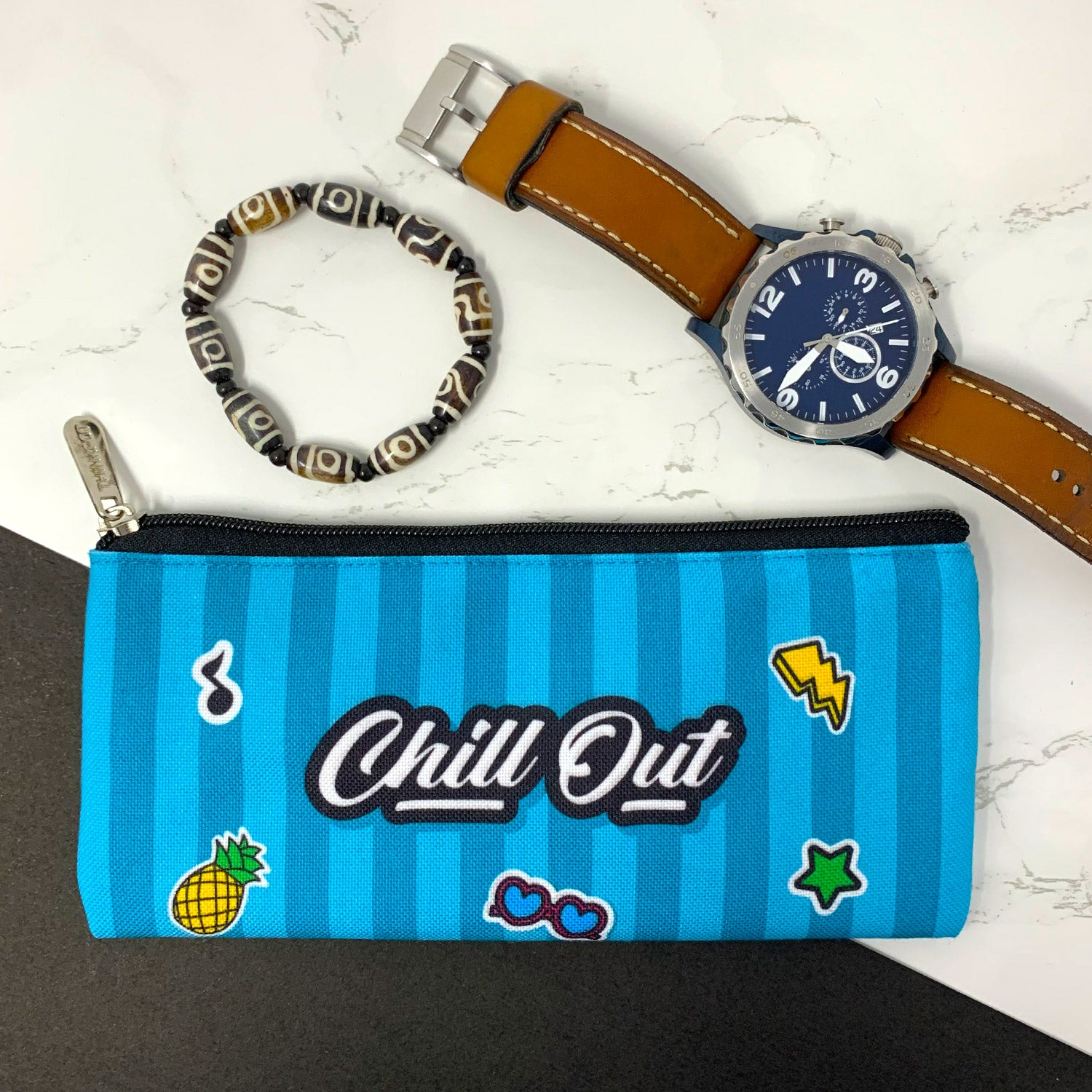 Chill Out Canvas Pencil Pouch