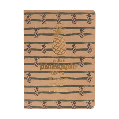 Be Like a Pineapple A5 Kraft Book
