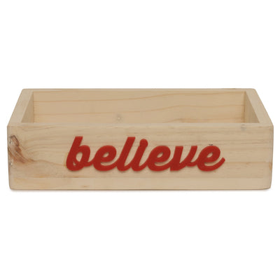 Believe Premium Wood Organiser Tray
