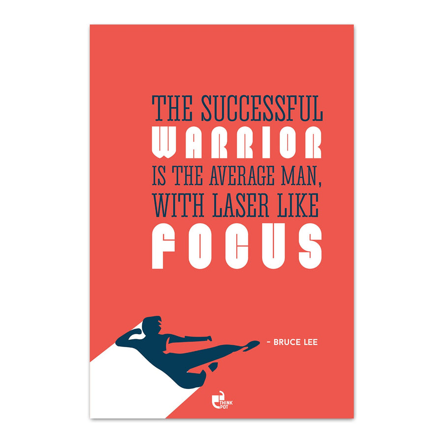 The successful warrior Poster - Bruce Lee