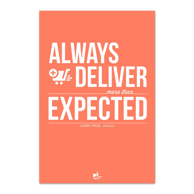 Always deliver more Poster