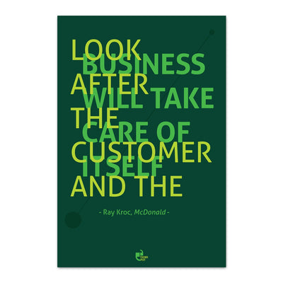 Look after the customer Poster