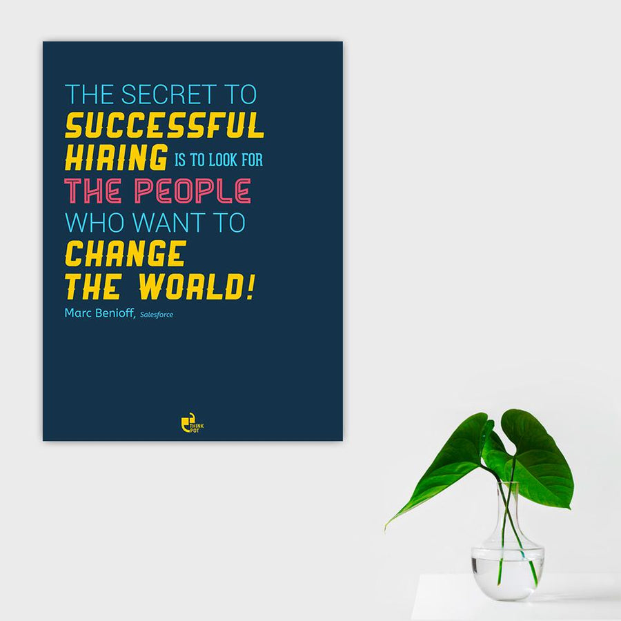 Successful hiring Poster - Marc Benioff