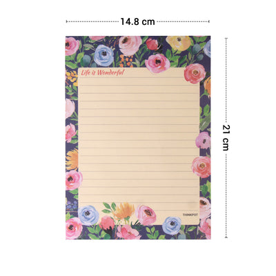 Life is wonderful Memo Pad