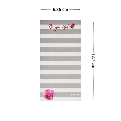 Beyoutiful Grey Memo Pad