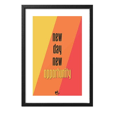 New Opportunity Black 12X8 Frame