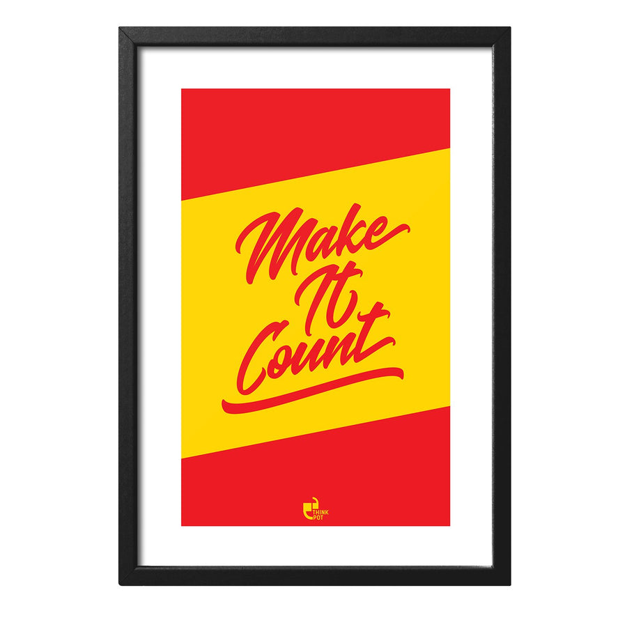 Make It Count Black 12X8 Frame