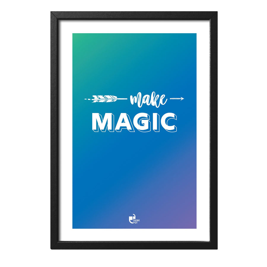 Make Magic Black Rectangular Frame