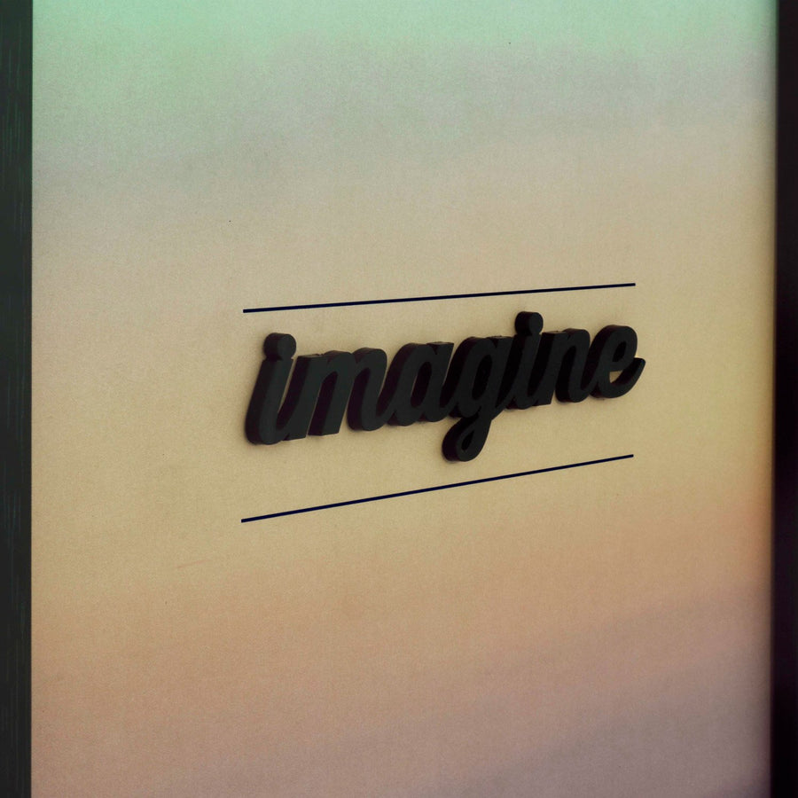 Imagine Black 12X8 3D Frame