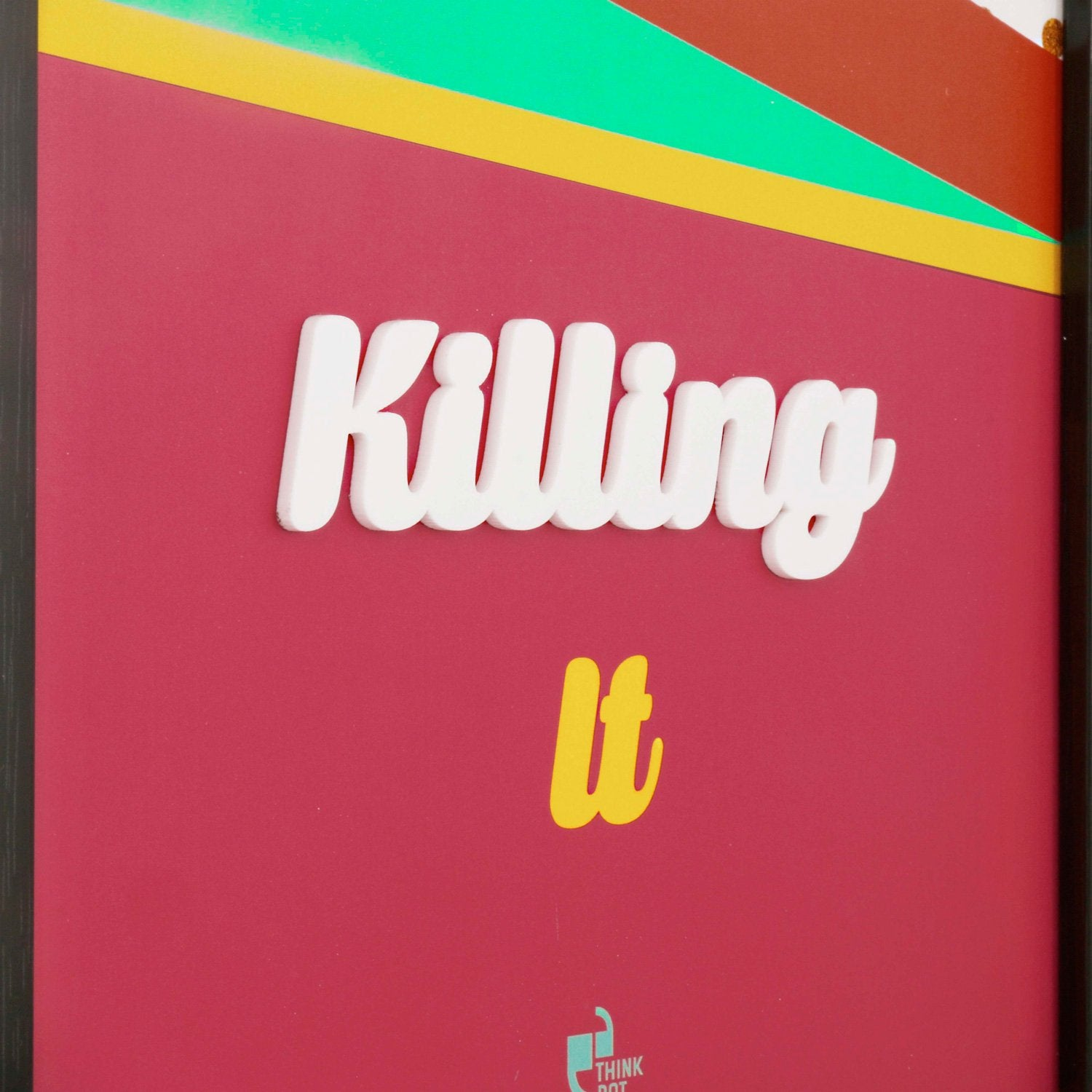 Killing it Black 12X8 3D Frame