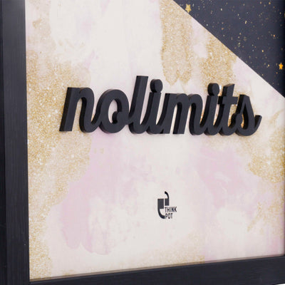 No Limits Black 12X8 3D Frame