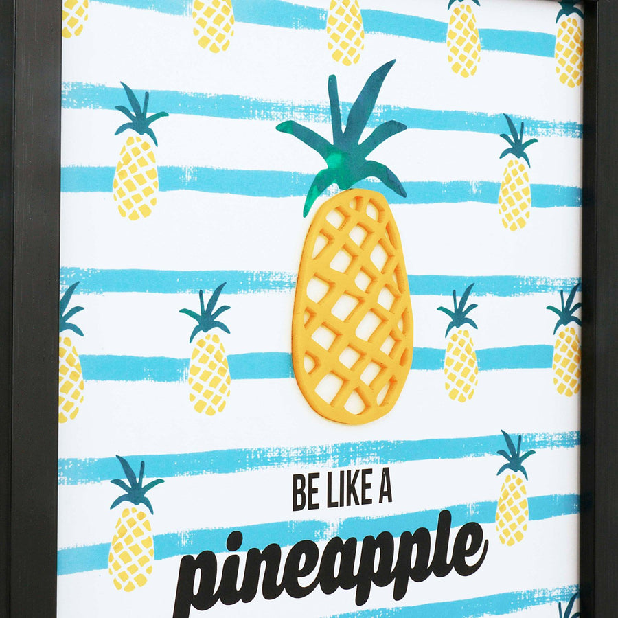Pineapple Black 12X8 3D Frame